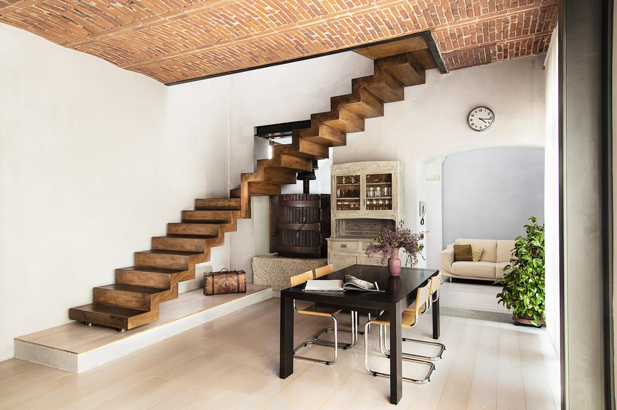 Officine del ferro for Effetto legno su muro